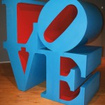 Robert Indiana, Love, 1996, Polychrome aluminum, 72 x 72 x 36 inches, Museum Purchase, 1999