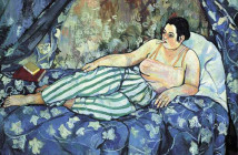 """Suzanne Valadon, La Chambre bleue, oil canvas, 1923. Part of the Centre Pompidou's """"elles@centrepompidou,"""" that will feature hundreds of works by female artists only."""