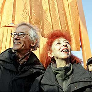 Christo with Jean-Claude