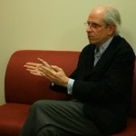 Photographer/educator Stephen Shore at Boston University for PRC lecture and booksigning.