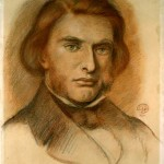 A portrait of Ruskin by Dant Gabriel Rosetti (not in the exhibition).