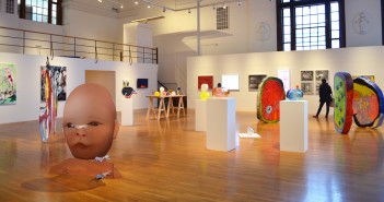 Installation shot of the MassArt thesis exhibition. Photo courtesy of Evan Smith.