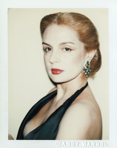 Andy Warhol, Carolina Herrera, 1978. Polacolor type 108, 4 1/4 x 3 3/8 inches. Colby College Museum of Art; Gift of the Andy Warhol Foundation for the Visual Arts, Inc., The Andy Warhol Photographic Legacy Program.