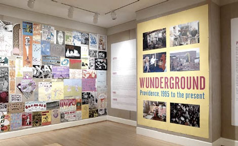 Installation view of Wunderground: Providence, 1995 to the present. Photograph by Erik Gould.