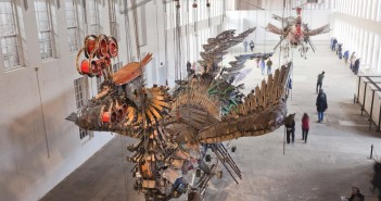 Xu Bing: Phoenix | Mantle Photo courtesy of Hideo Sakata