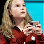 Morgan Pozgar, age 13, is officially the LG National Texting Champion Image found here