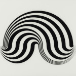 Bridget Riley, Untitled (Fragment 5), Screen print printed on the verso of an acrylic sheet, 1965.
