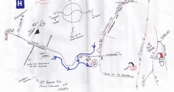 A map to the suspected Santa snatcher as drawn by Steve Roberge