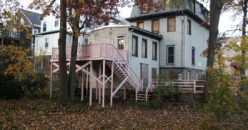 "Garett's ""Pink Deck"" piece in which he painted the rear deck of an empty house awaiting demolition."