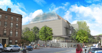 Harvard Art Museums rendering from Broadway and Prescott Street.  Photo: courtesy Renzo Piano Building Workshop.