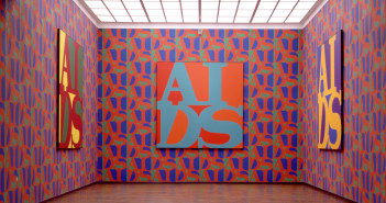General Idea, AIDS Wallpaper, Screen print on wallpaper, 1989  Courtesy of AA Bronson