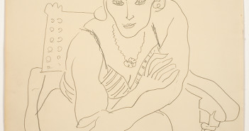 Henri Matisse Femme en fauteuil (Woman in a chair), 1935 Pencil on paper 346.203120 © 2014 Succession H. Matisse / Artists Rights Society (ARS), New York.