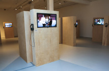 Photo by Melissa Blackall Photography at Mills Gallery, Boston Center for the Arts, Labor in a Single Shot, September 19-November 30, 2014.