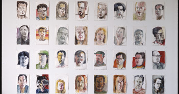 Williamsburg Portraits, 1991-92 Ink, gouache and pencil on paper Set of 32: 8 x 11 inches each Courtesy of the artist and Sikkema Jenkins & Co. Photo: John Berens
