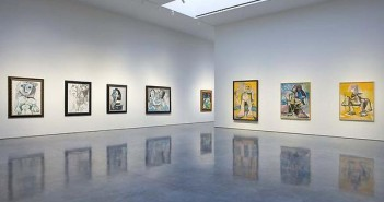 Pablo Picasso, installation shot of Mosqueteros.