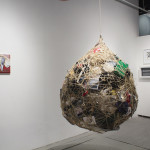 All Our Tomorrows and Yesterdays Foreground: Mary Mattingly, Terrene, 2012 Rope, twine, personal objects 3.5 feet in diameter
