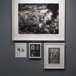 """Eric Petitti The Casco Theory about the Missing Golden Pear. (Installation View) 2012 Ink, Graphite, inkjet prints. 53"""" x 38"""""""