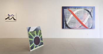 Installation Shot (from l to r): Blue Wavelength, Brown Sun Eclipse, and Red Signal Image courtesy Simone Subal Gallery
