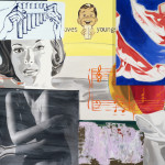 David Salle Odes and Aires, 2014 oil, acrylic, crayon, charcoal and archival digital print on linen and canvas 61 x 84 inches Image courtesy Skarstedt, New York