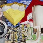 David Salle Yellow Fellow, 2015 oil, acrylic, silkscreen, crayon and archival digital print on linen 78 x 108 inches Image courtesy Skarstedt, New York