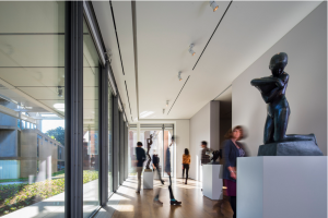 A gallery at the new Harvard Art Museums, with sculptures from the collection of the Busch-Reisinger Museum. Photo: © Nic Lehoux.