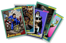 Art World Universe. A set of 30 trading cards depicting contemporary artists within a world of mutant powers, secret identities, and epic confrontations. Image courtesy of the artists.