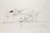 Philip Guston Sea, 1980, lithograph, 30.5 x 40.5 inches. Image courtesy of Steven Zevitas Gallery