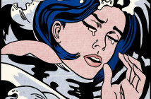 Cat. No. 32 / File Name: 3287-028.jpg Roy Lichtenstein Drowning Girl, 1963 oil and Magna on canvas overall: 171.6 x 169.5 cm (67 9/16 x 66 3/4 in.) The Museum of Modern Art, New York, Philip Johnson Fund (by exchange) and gift of Mr. and Mrs. Bagley Wright, 1971 © Estate of Roy Lichtenstein