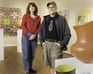 Michelle Grabner and Brad Killam. Photo by Jeremy Saladyga and courtesy of Silvermine Arts Center.