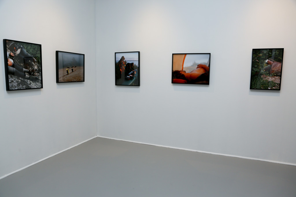 "Installation view, Ryan Arthurs, Untitled, Labrador, 2012, Digital prints, 16"" x 20"" Photo by Melissa Blackall Photography at Mills Gallery, Boston Center for the Arts, Arcadia: Thoughts on the Contemporary Pastoral, July 10-September 20, 2015."