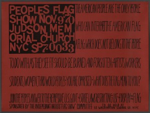 "Faith Ringgold Peoples Flag Show Nov. 9 '70 1970. 18 x 24"" Harvard Art Museums/Fogg Museum, Bequest of William S. Lieberman © Faith Ringgold"