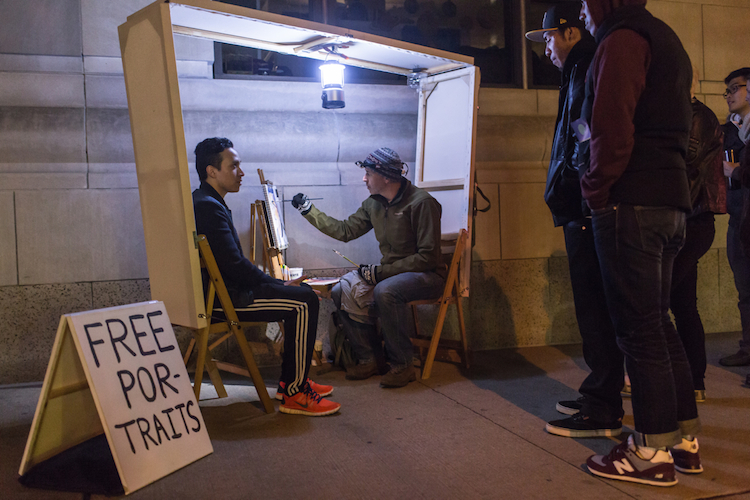 Documentation of Itinerant Painter included in Nuit Blanche Toronto 2014 (Photo by A. Williamson)