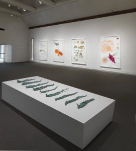 Installation view of work by Jorinde Voigt, 'Drawing Redefined: Roni Horn, Esther Kläs, Joëlle Tuerlinckx, Richard Tuttle, and Jorinde Voigt,' deCordova Sculpture Park and Museum, Lincoln, MA, Photograph by Clements Photography and Design, Boston.