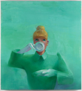 Lisa Yuskavage The Ones That Can't: Tea, 1991-1992 Oil on linen 26 x 24 inches (66 x 61 cm) Courtesy the artist and David Zwirner, New York/London