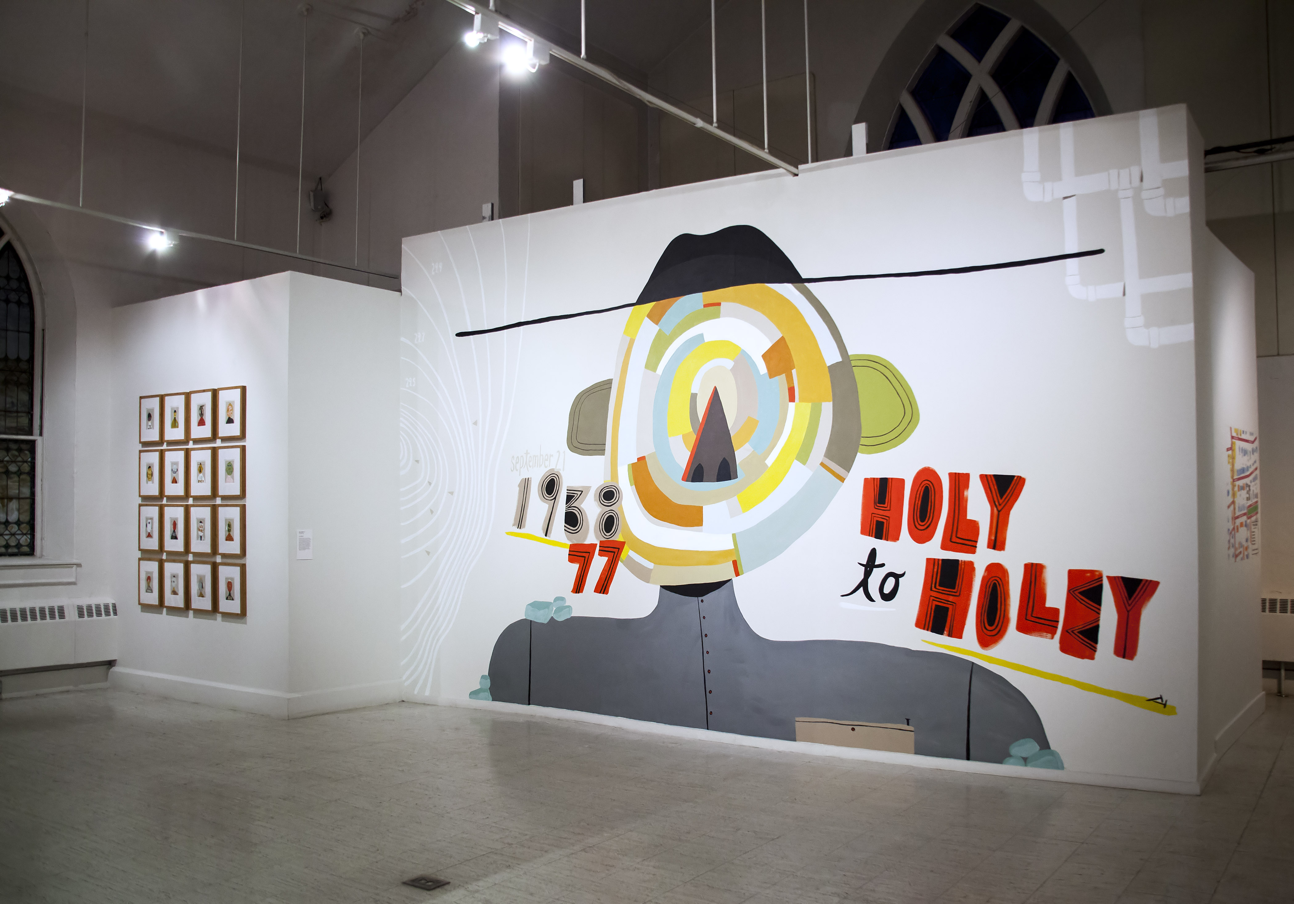 Mark Hoffmann, Holy to Holey, site-specific mural, 2016. Courtesy of the New Art Center.