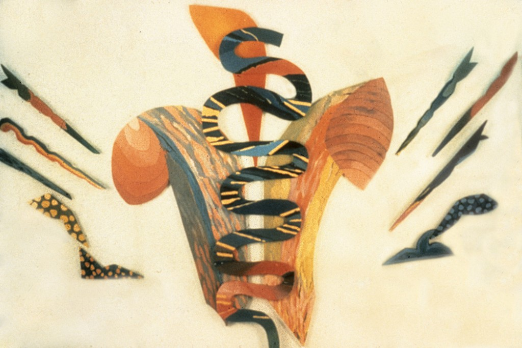Anticonceptivo (Contraceptive), 1987, acrylic on canvas and wood, approx. 157 × 197 in. (397.8 × 500.4 cm), National Cuban Foundation, Havana, Cuba. Courtesy of Indianapolis Museum of Art.