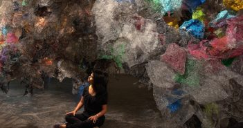 Untitled, Aaditi Joshi (Indian) 2016. Fused plastic bags, acrylic paint, LED lighting, and wooden armature Courtesy of Artist and Gallery Maskara. Photograph by David Desouza © Aaditi Joshi. Courtesy, Museum of Fine Arts, Boston.