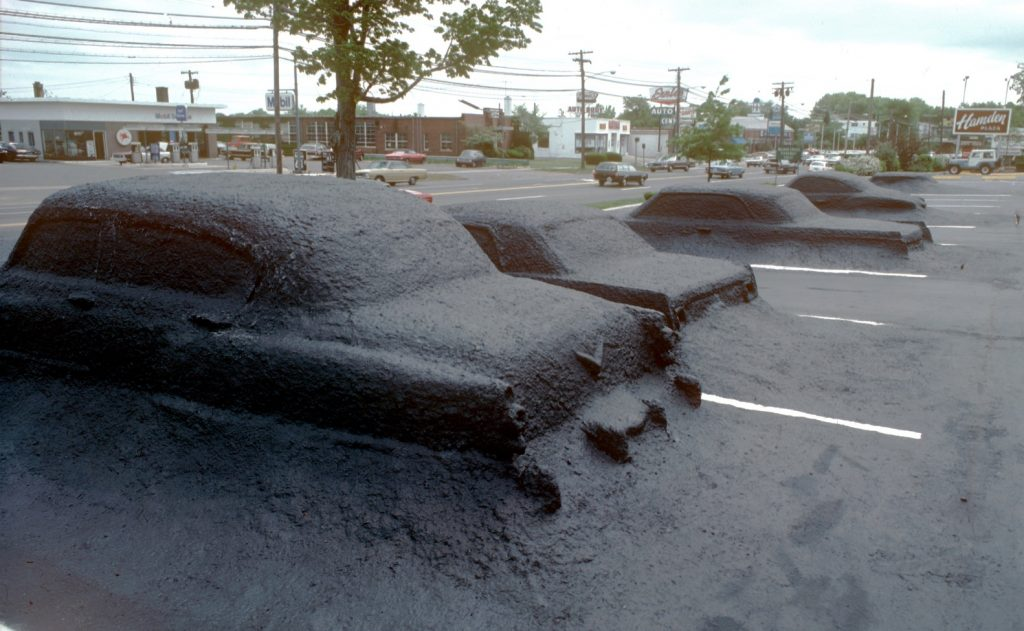 James Wines, Ghost Parking Lot, Hamden, CT, 1978. Via archdaily.com