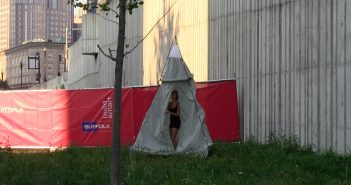 Kate Gilbert, Still from Alone Together tent dress. Courtesy of Kate Gilbert.