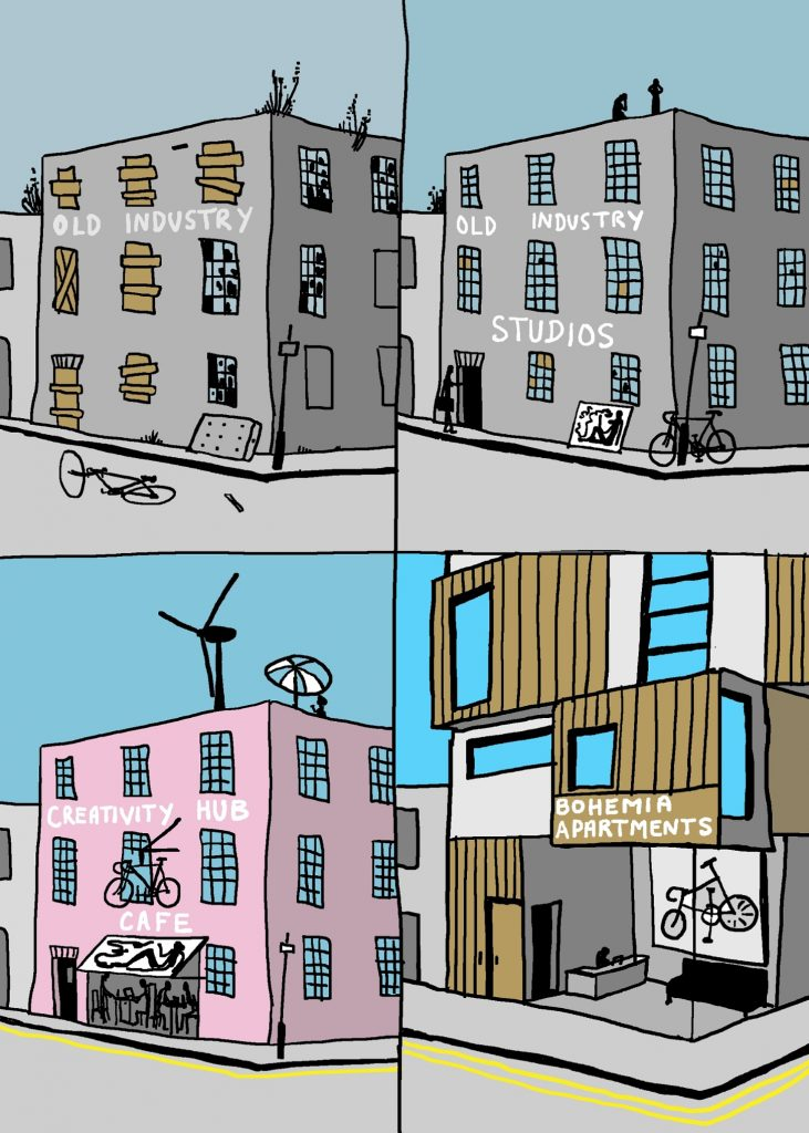 Gentrification Illustration: Grayson Perry
