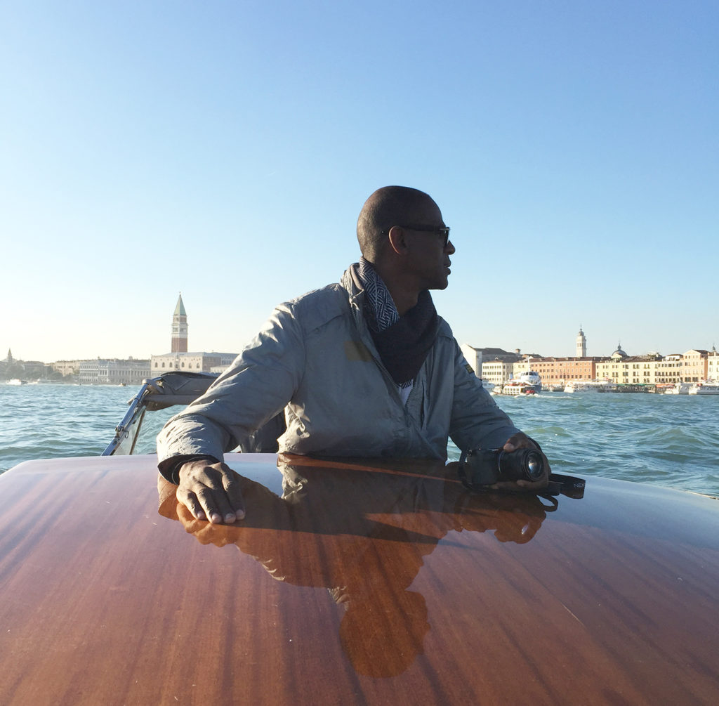 Mark Bradford in Venice. Photo by Christopher Bedford.