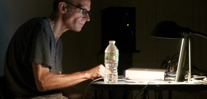 Jed Speare (2015) live at Mobius, World Listening Day concert (Non-Event) Photo: Susanna Bolle
