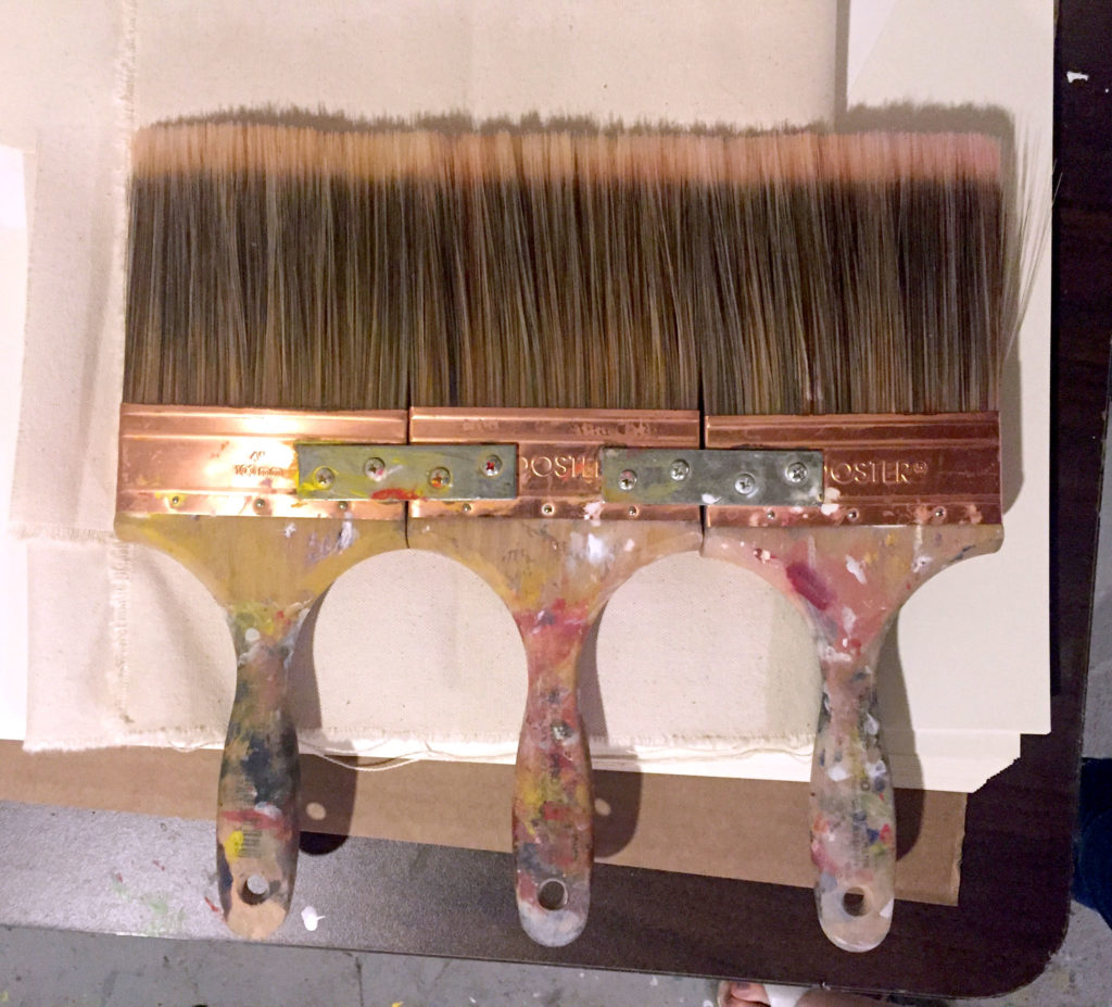 "Homemade 12"" brushes used by Jefferson in his studio"