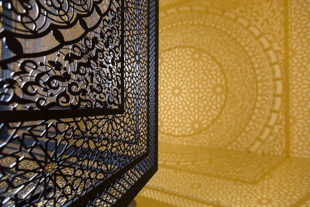 "Anila Quayyum Agha, ""Intersections,"" 2012. Photo courtesy Peabody Essex Museum."
