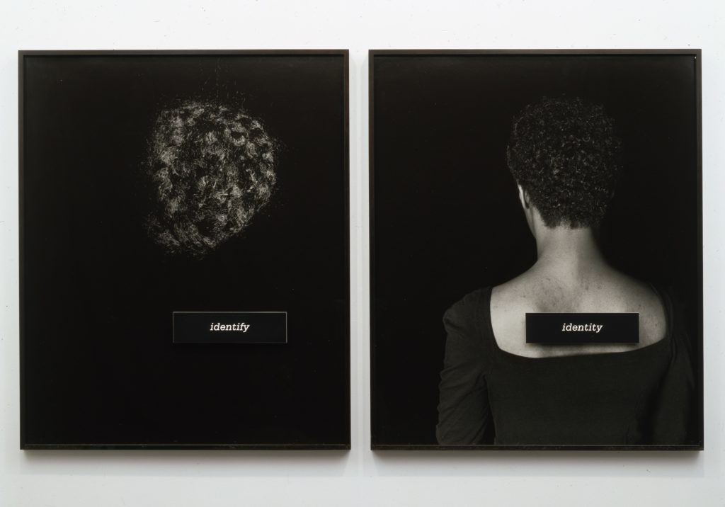 Lorna Simpson, ID, 1990. Gift of Barbara Lee, The Barbara Lee Collection of Art by Women ©2016 Lorna Simpson.