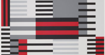 "Anni Albers, ""Smyrna-knüpfteppich (Bauhaus-period), from the portfolio ""Connections/1925/1983"", 1925 Screen print, image: 20 1/8 in. x 15 1/8 in. (51.1 cm x 38.4 cm); sheet: 27 1/2 in. x 19 11/16 in. (69.8 cm x 50 cm) Museum purchase, The Nancy Gray Sherrill, Class of 1954, Collection Acquisition Fund 2016.6.2"