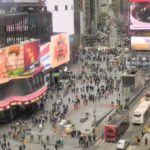 Live feed of Times Square, Liao Fei, 2016, Earth Cam footage used in Perspective installation.