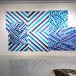 """Installation view of """"RE//Woven"""" at the Montserrat College of Art, Beverly, MA. Image courtesy of Nathan Lewis."""