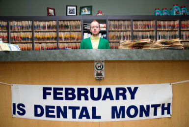 "Caleb Cole, ""February is Dental Month,"" archival inkjet print, 2008."