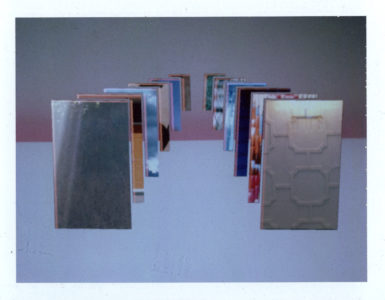 "Corey Escoto, ""Into the Horizon (Double Domino),"" 2015. Fuji Color Instant Film, 4 X 5 inches."